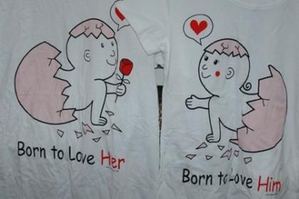 เสื้อยืดคู่รัก